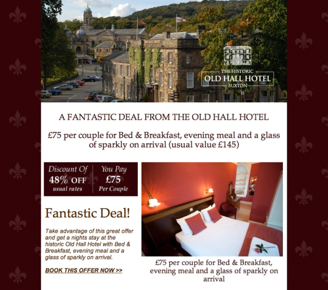OLD HALL HOTEL SPECIAL OFFER