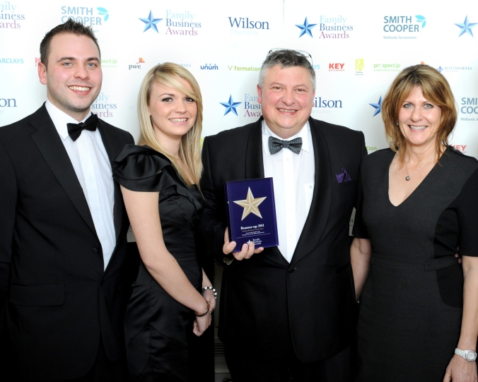 CW Sellors Recieve Runner up at the 2011 awards in the Business of the Year Category