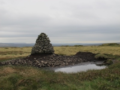 the cairn at Tooleyshaw Moss