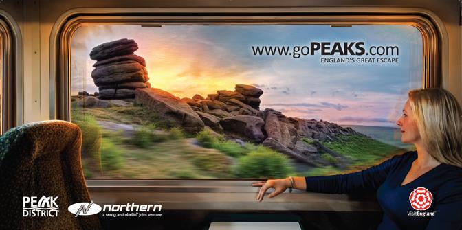 northern rail go peaks billboard