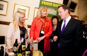 Fresh Basil Wendy Moore and Charlotte Tansley with Mr Cameron