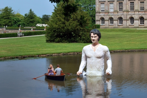 Mr Darcy at Lyme Park, Disley, Cheshire