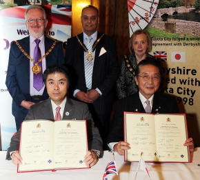 Toyota City And derbyshire Twinning Ceremony