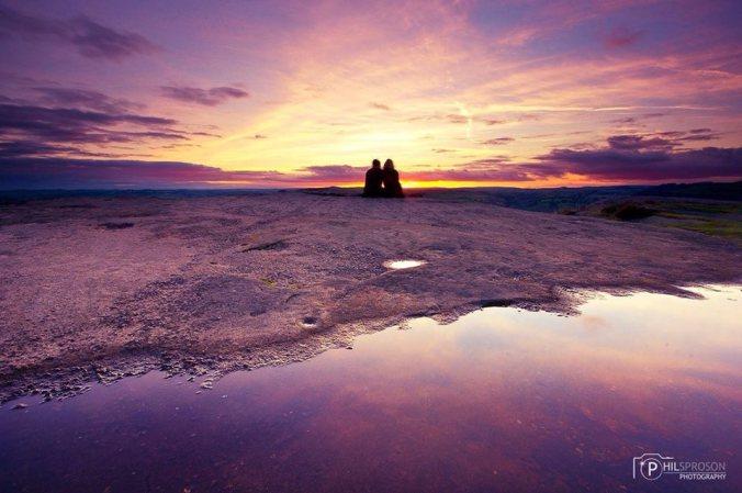 Peak District sunset couple