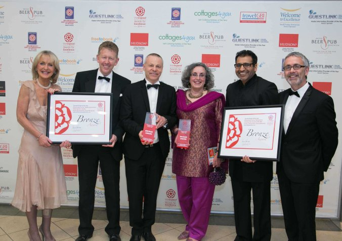 The joint Elemental Force team celebrates the project's Bronze success at VisitEngland's Awards for Excellence 2014.