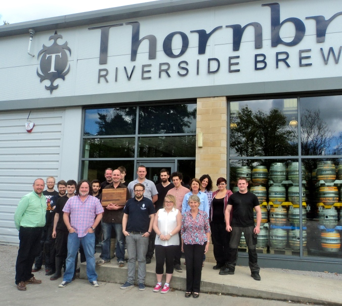 The Team at Thornbridge with the BBC Drink's Producer Award