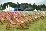 Deck chairs at the main stage
