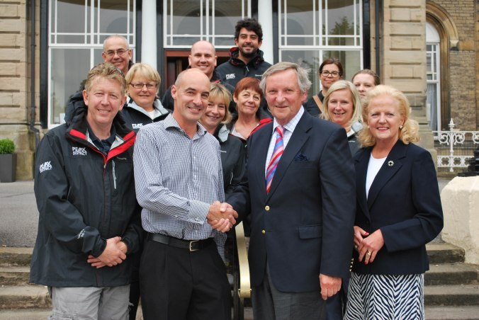 Andrew Pugh, Paul Roden and the Visit Peak District & Derbyshire team