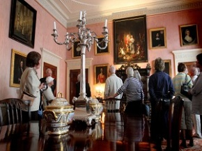 The Red Dining Room at Renishaw Hall