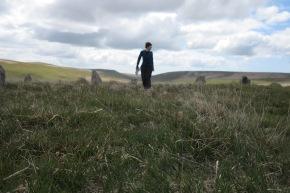 Alison Lloyd, Stone Circle on Stall Moor, 375 metres, 2015