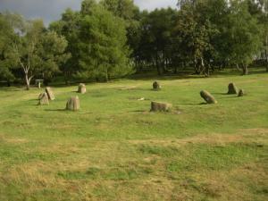 Nine Ladies stone circle on Stanton Moor