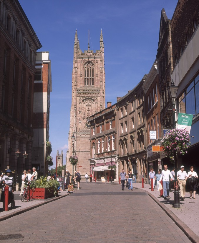 Derby Cathedral and Iron Gate