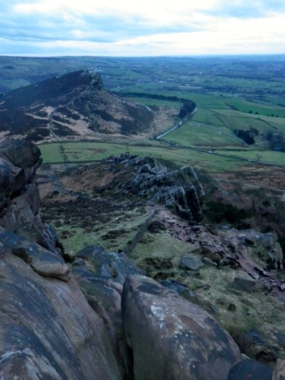 View from Roaches to Hen Cloud