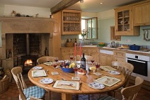 Slade House Farm kitchen table 2012